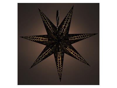 RXL 342 hviezda čierna 10LED WW RETLUX
