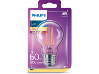 LED Filament 60W E27 WW A60CL ND PHILIPS