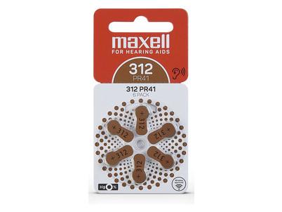 AZ312/PR41 batérie zink. 6ks MAXELL