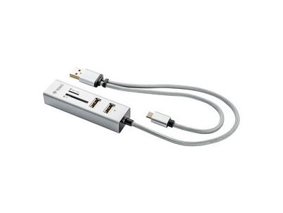 YHC 102SR USB OTG COMBO HUB+čít. YENKEE