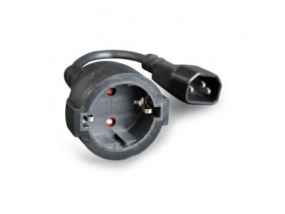 Napájací adaptér kábel C14 samec na samicu Schuko