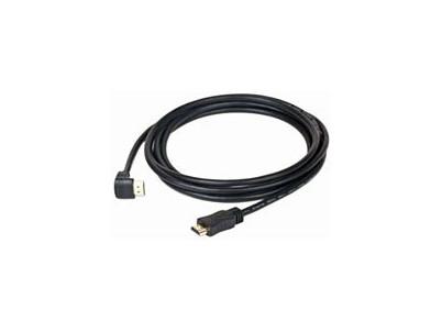 Kábel HDMI 1.4 Male/Male 3m konektor 90°
