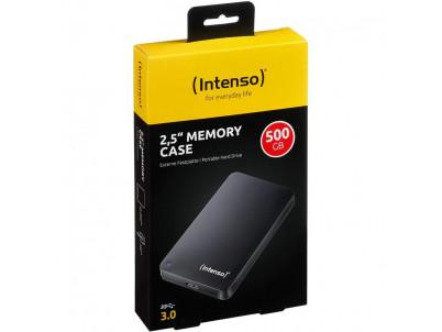 """INTENSO 500GB MemoryCase 2,5"""" USB3.0 čierny"""