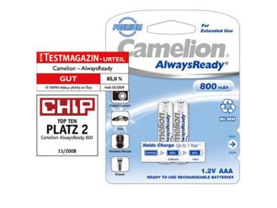 CAMELION Batérie nabíjateľné PREMIUM AAA 2ks NI-MH