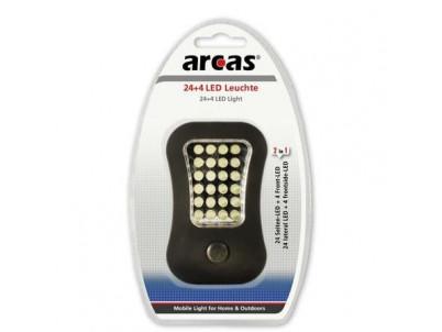 ARCAS 307 00019, LED baterka na kempovanie 24+4