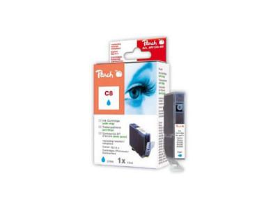 Cartridge Peach kom. CANON chip CLI-8C PI100-66
