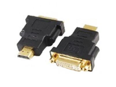 Redukcia z HDMI male na DVI female pozlat. kontakt