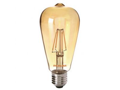 LED Sylvania RETRO ST64 E27 4W 400lm 2400K Zlatá