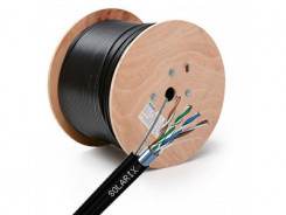 SOLARIX kábel vonkajší s FTP PE CAT5E 305m/balenie
