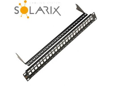 "SOLARIX 19"" Neosadený univerzálny panel 24 portov"