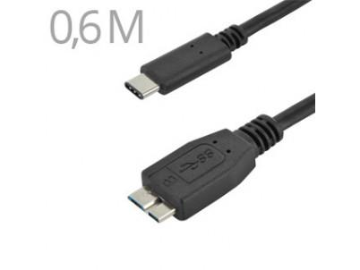 CABLE KU31CMB06BK USB3.1 Typ C/male - USB 3.0 Male