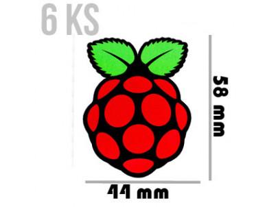 PIMORONI Samolepky veľké 58x44 6ks pre Raspberry