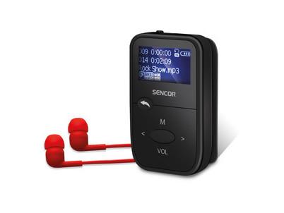 SFP 4408 BK MP3 prehrávač 8GB SENCOR