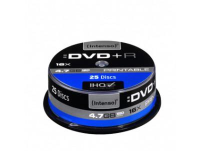INTENSO DVD+R Cake Case 4,7GB PRINT 25ks