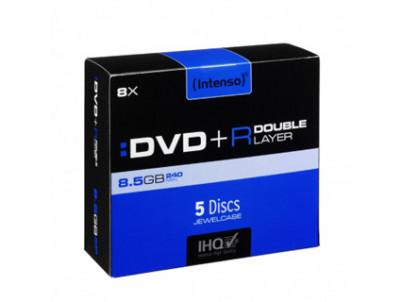 INTENSO DVD+R Slim Case 8,5GB DL 5ks