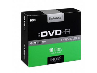 INTENSO DVD-R Slim Case 4,7GB PRINT 10ks