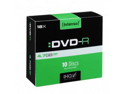 INTENSO DVD-R Slim Case 4,7GB 10ks
