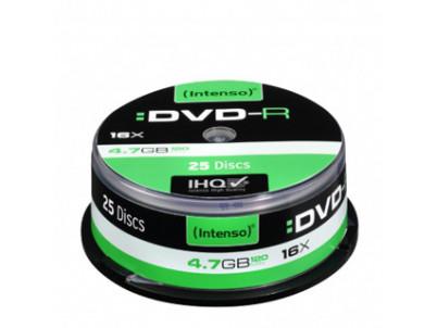 INTENSO DVD-R Cake Case 4,7GB 25ks