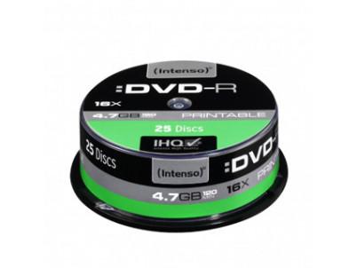 INTENSO DVD-R Cake Case 4,7GB PRINT 25ks