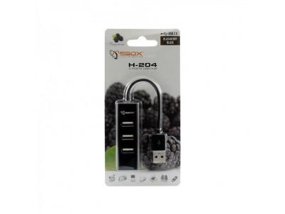 SBOX H204 black USB 2.0 port 4x