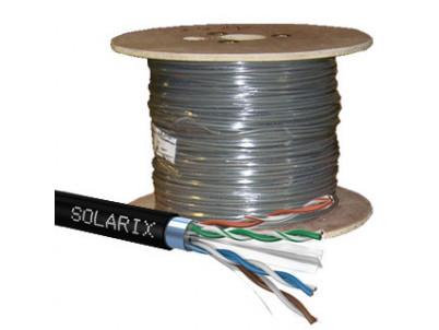 SOLARIX kábel CAT6 FTP PE Fca vonkajší 500m/cievka