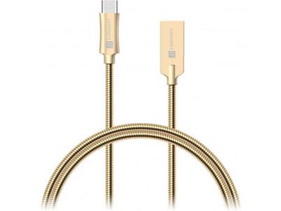 CONNECT IT Wirez Steel Knight USB Type-C/USB-A gld