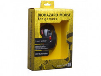 CONNECT IT CI-191 Biohazard myš black