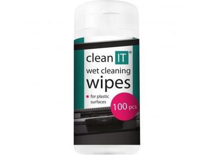 CLEAN IT čistiace obrúsky mokré na plasty 100ks