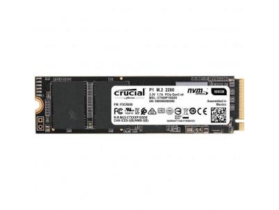 CRUCIAL SSD P1 500GB 3D NAND M.2 NVMe PCIe