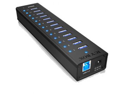 RAIDSONIC ICY BOX - USB 3.0 Hub, 13 port