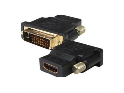 SBOX Redukcia DVI samec (24+1)/HDMI samica