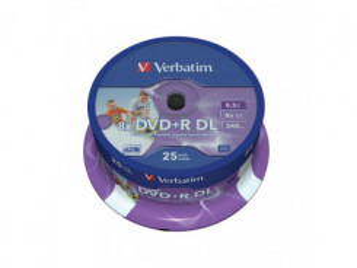 VERBATIM DVD+R 8,5GB 8x DoubleLayer PRINTABLE 25ks
