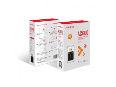 AIRPHO AC600 Wifi MINI USB adaptér
