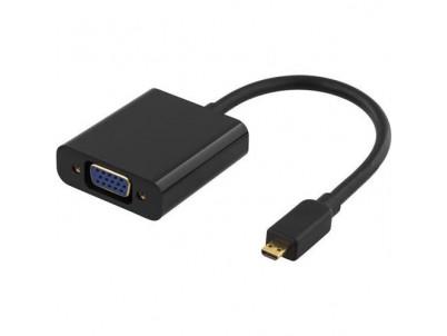 DELTACO Adaptér HDMI (Micro D-typ)/VGA