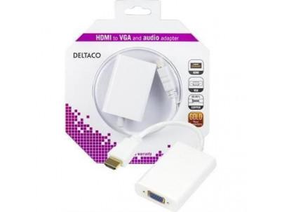 DELTACO Adaptér HDMI samec/VGA samica