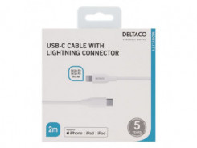 DELTACO USB Type C/Lightning 2m IPLH-320M