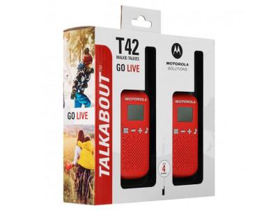 MOTOROLA T42 WALKIE TALKIE Red 2ks