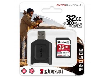 KINGSTON SDHC Canvas React Plus 32GB Kit