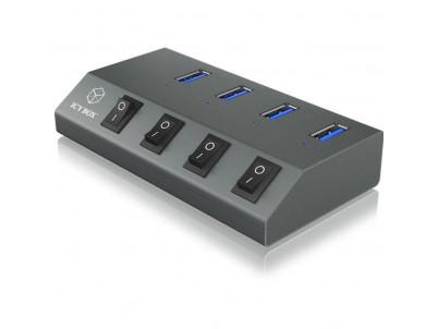 RAIDSONIC ICY BOX - USB 3.0 HUB 4porty