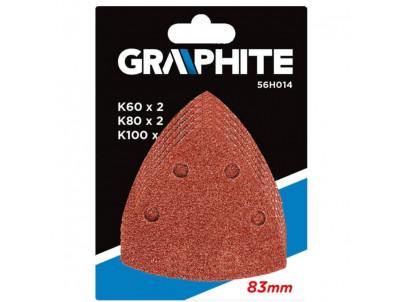 GRAPHITE Brúsne papiere na suchý zips pre 83x83x83