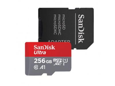 SanDisk Ultra Micro SDXC 256GB 120 MB/s A1 + ada