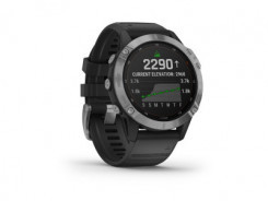 GARMIN Fénix 6 Solar, Silver, Black Band