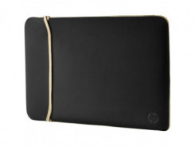 "HP 14.0"" Reversible Sleeve, Black / Gold"