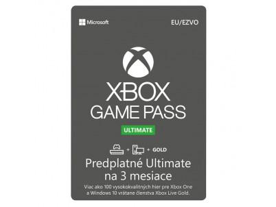 MICROSOFT Xbox Game Pass Ultimate 3 mesiace