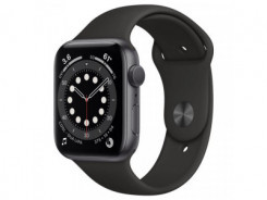 APPLE Watch SERIES 6 GPS Spg ALU Case Blk Sp 44mm
