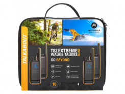 MOTOROLA T82 Extreme TALKABOUT blk/ora 4ks