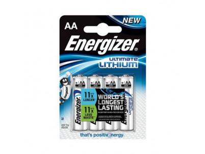 ENERGIZER Ultimate Lithium AA, Batérie, LR6, 4ks