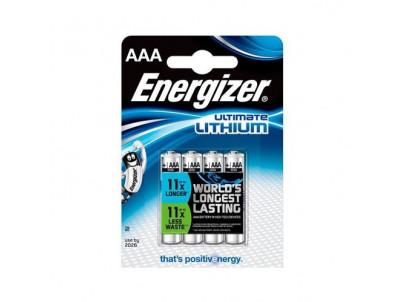 ENERGIZER Ultimate Lithium AAA, Batérie, LR03, 4ks