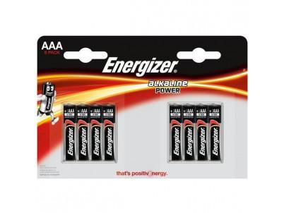 ENERGIZER Alkaline Power, Batérie, AAA, LR03, 8ks