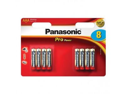PANASONIC PRO POWER, Batérie, AAA, LR03, 1,5V, 8ks